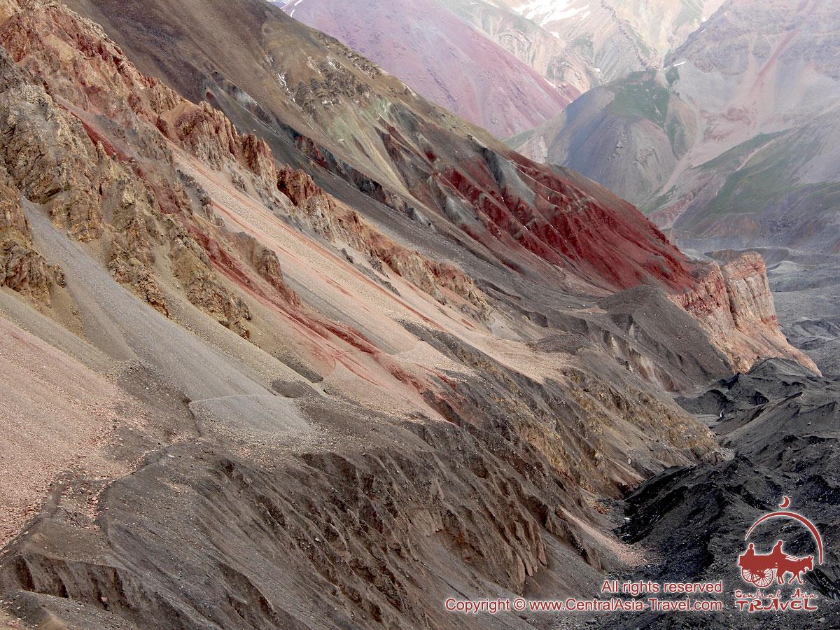 Дорога в первый лагерь (4400м). Пик Ленина, Памир, Кыргызстан