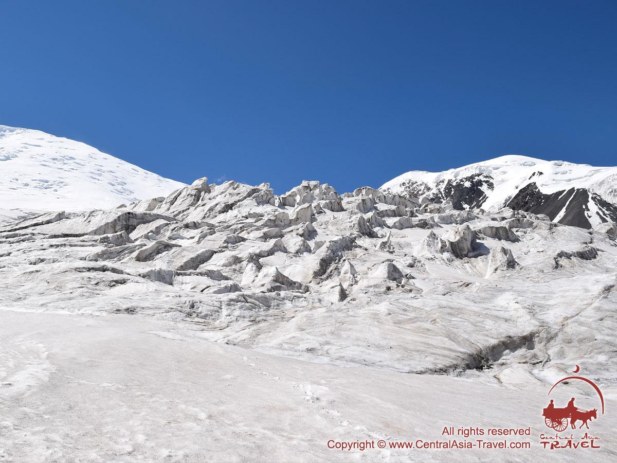 Ледопад между первым и вторым лагерем. Пик Ленина, Памир, Кыргызстан