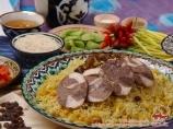 Plov uzbeko. Cocina nacional de Uzbekistán