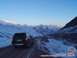 The road from the Afghan border to the Pamir Highway through Hargush Pass (4344 m) (Yamg - Bulunkul). Tajikistan