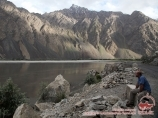 Rivière Pyandj. Village de Rouchan, Tadjikistan