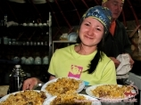 Meals at base camps of «Central Asia Travel» company. Lenin peak, Pamir, Kyrgyzstan