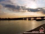 Evening in the Amu Darya river. Nukus, Uzbekistan