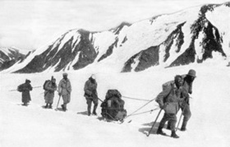 Group of Soviet mountaineers led by N. V. Krylenko in 1929
