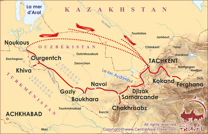 Carte de l'itinéraire