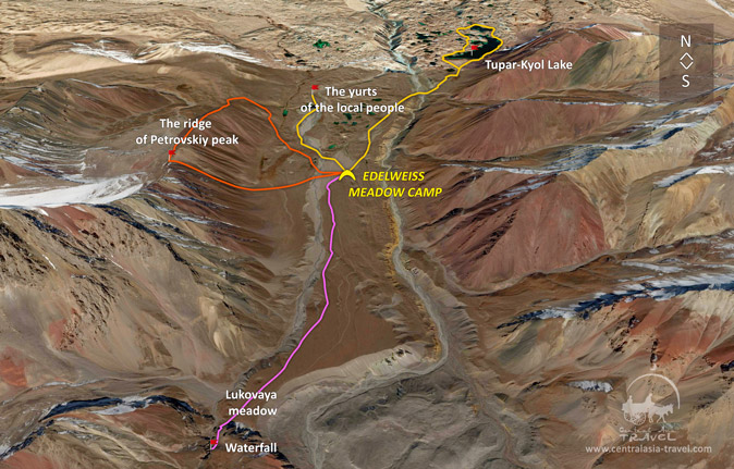 Resort in the Pamirs Route Map