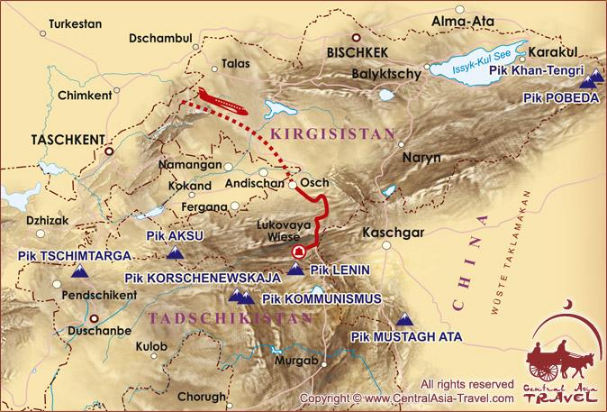 Karte der Route «Pamir als Kurort»