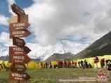 Camp de base (3600 m) de la compagnie «Central Asia Travel». Pic Lénine, Pamir, Kirghizstan