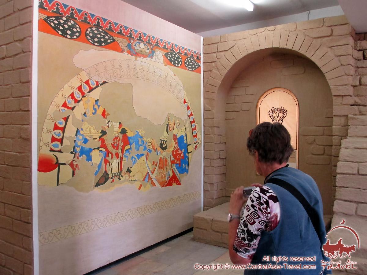 u201cafrasiab u201d museum in samarkand  legendary capital of ancient sogdiana