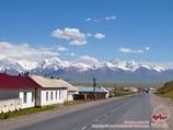 Village Sary-Tash. Région Pamir-Alaï, Kirghizstan