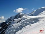 Lipkin rocks. Lenin peak, Pamir, Kyrgyzstan