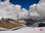 Lenin Glacier. Lenin peak, Pamir, Kyrgyzstan