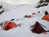Camp 2 (5300m). Lenin peak, Pamir, Kyrgyzstan
