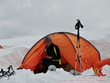 Camp 3 (6100m). Lenin peak, Pamir, Kyrgyzstan