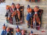 Узбекские национальные куклы из папье-маше. Бухара, Узбекистан
