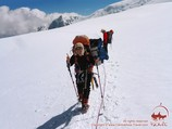 Skovoroda plateau. Lenin peak, Pamir, Kyrgyzstan
