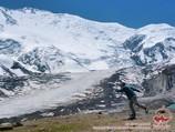 Lenin Peak (7134 m). Lenin peak, Pamir, Kyrgyzstan