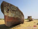 Корабли в песках. Аральское море, Узбекистан