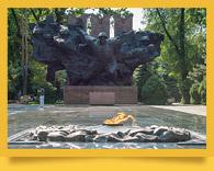 El parque en honor a los 28 guardias de Panfilov en Almatý