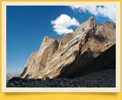 Aksu peak surrounders. Pamir-Alay mountains (Turkestan range, Kyrgyzstan)