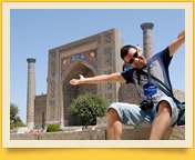 Медресе Шер-Дор (XVII век). Площадь Регистан, Самарканд, Узбекистан