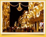 Rue Nizami. Bakou, Azerbaïdjan