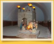 Le temple du feu éternel Atechguakh (XVII - XVIII ss.). Baku (Abşeron péninsule), Azerbaïdjan