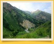 Naryn stadt in Kirgisistan