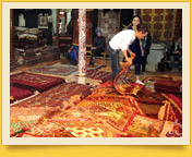 Carpets and Suzanne. Carpet weaving in Uzbekistan
