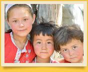 Kyrgyz children. People of Kyrgyzstan. Pamir-Alay area, Kyrgyzstan