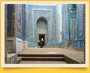 Complejo Shahi-Zinda. Samarcanda, Uzbekistán