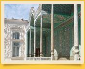 El palacio Sitorai Mokhi-Khosa. Bujará, Uzbekistán