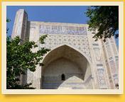 Moschee Bibi-Khanum (XV Jh.). Samarkand, Usbekistan