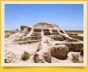 Archaeological site Toprak-Kala. Khorezm, Uzbekistan