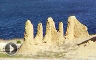 Pueblo abandonado de pesca Urga