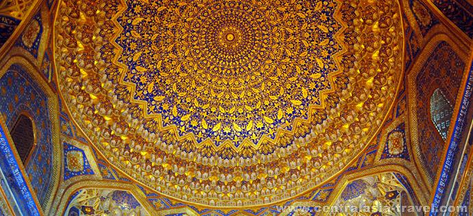 Медресе Тилля-Кари, Регистан. Самарканд, Узбекистан