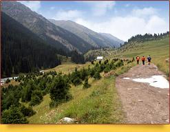 Fuente termal Altyn-Arashan. Kirguistán, lugares de interés de Issyk-Kul