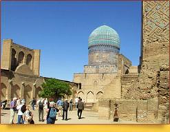 Mezquita Bibi Khanum. Samarcanda, Uzbekistán