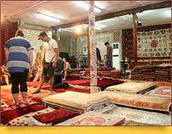 Tapisserie en Ouzbékistan