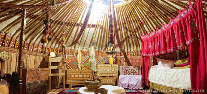 Aldea étnica kazaja