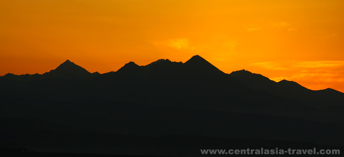 Sunset in the Pamirs