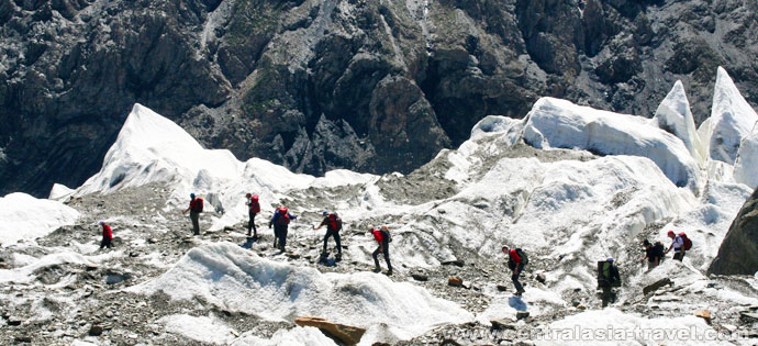 El glaciar Inilchek del Norte