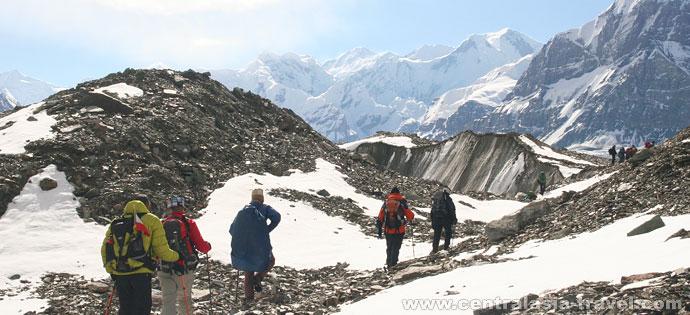 El glaciar Dikiy (Salvaje)