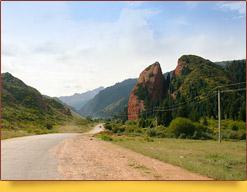 Jety-Oguz gorge, Kyrgyzstan
