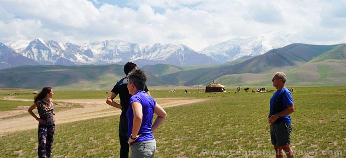 Base Camp at Lenin Peak