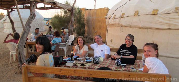 Юртовый лагерь, Узбекистан