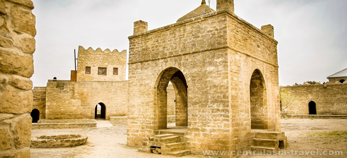 Le temple du feu éternel Atechguakh. Baku (Abşeron péninsule), Azerbaïdjan