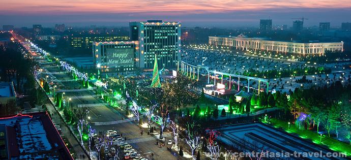 Вечерний Ташкент, Узбекистан. Туры в Узбекистан, тур на новый год, новогодний тур