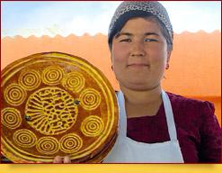 Uzbekisches Fladenbrot (Lepyoschka, Tandyr Nan, Patyr Nan)