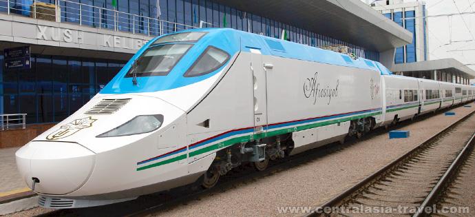 High-speed train, tour to Uzbekistan, new year tour, tour for new year holidays